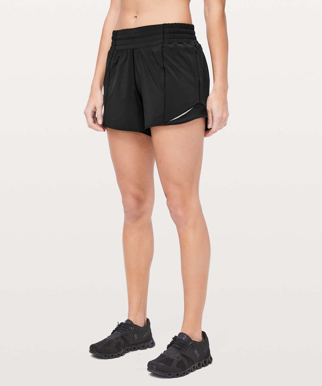 "Lululemon Hotty Hot Short *High-Rise Long 4"" - Black (First Release)"