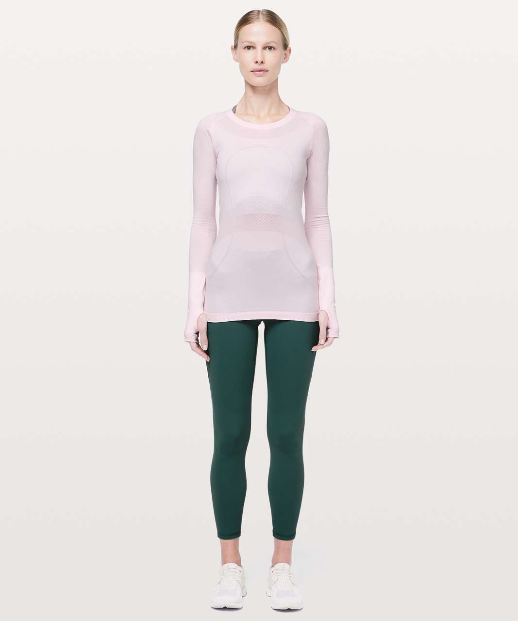Lululemon Swiftly Tech Long Sleeve Crew - Pink Glow / Pink Glow
