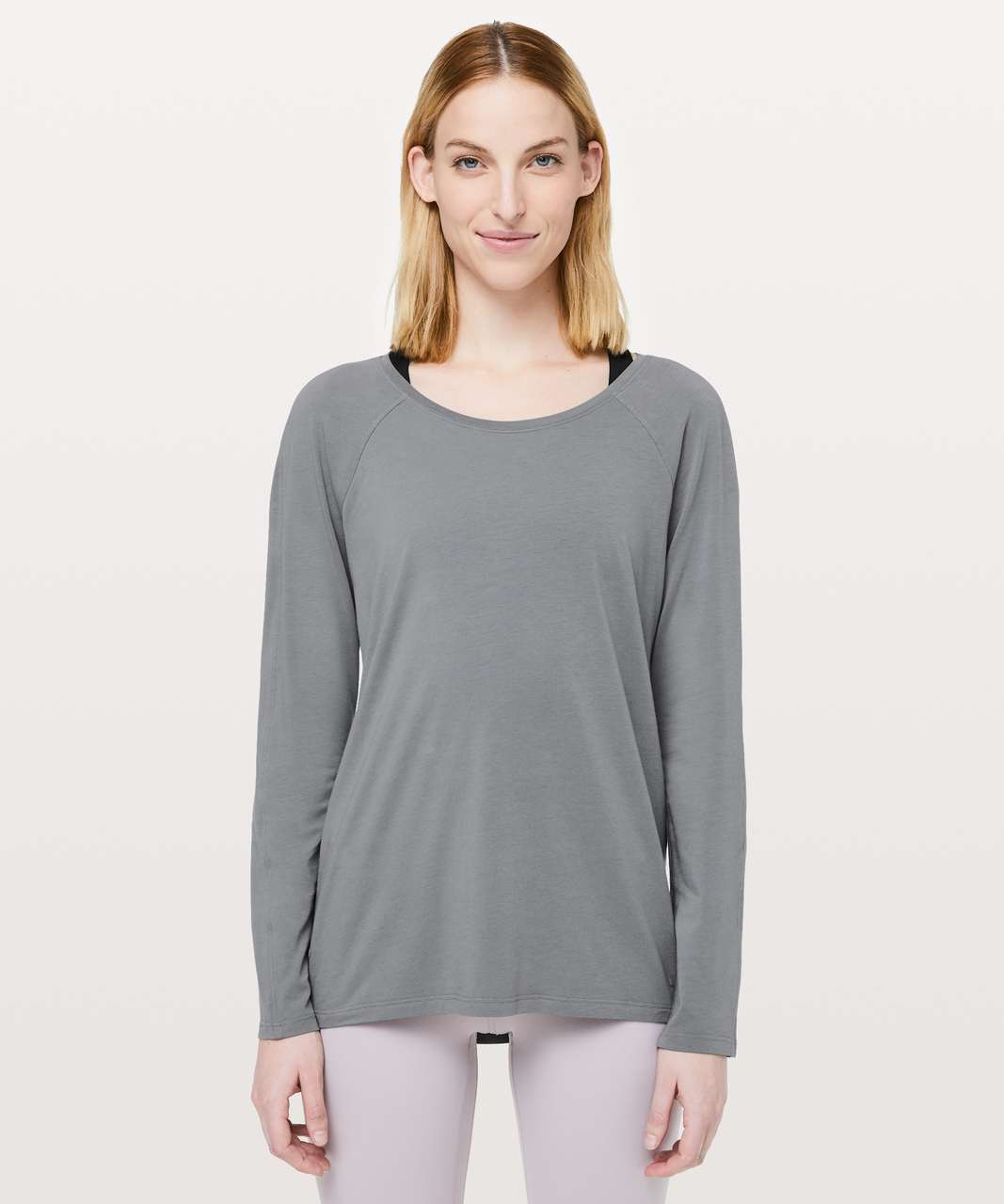 Lululemon Emerald Long Sleeve - Steam Blue