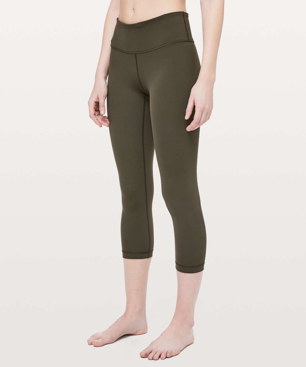 "Lululemon Wunder Under Crop III *Full-On Luxtreme 21"" - Dark Olive"