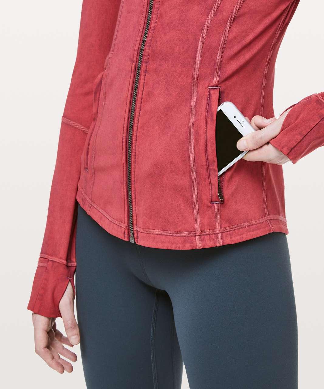 Lululemon Define Jacket *Garment Dye - Washed Misty Merlot