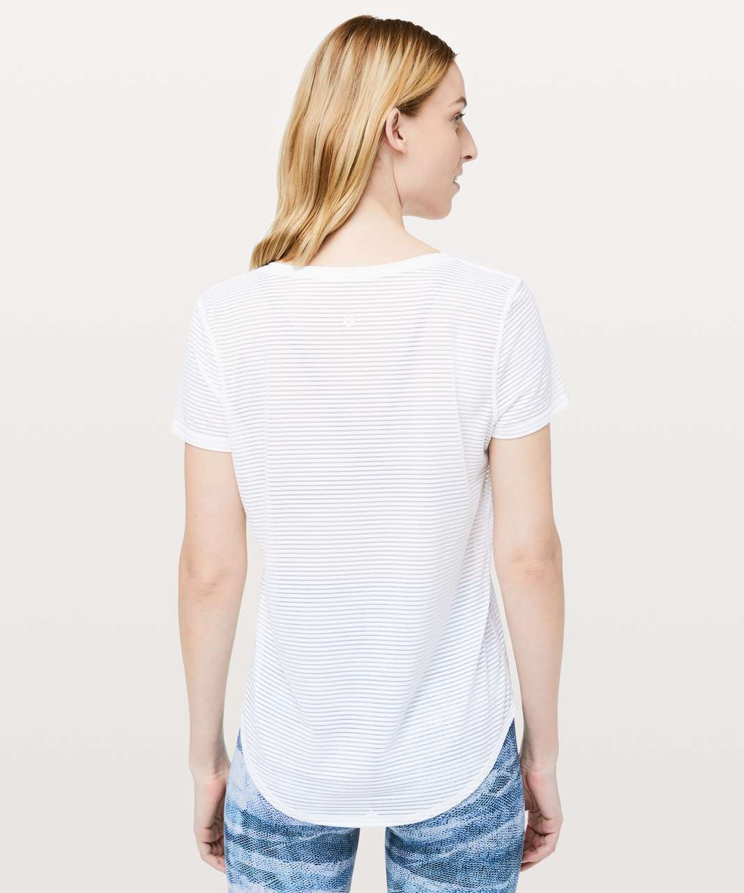 Lululemon All Love Crew *Striped Mesh - White (First Release)