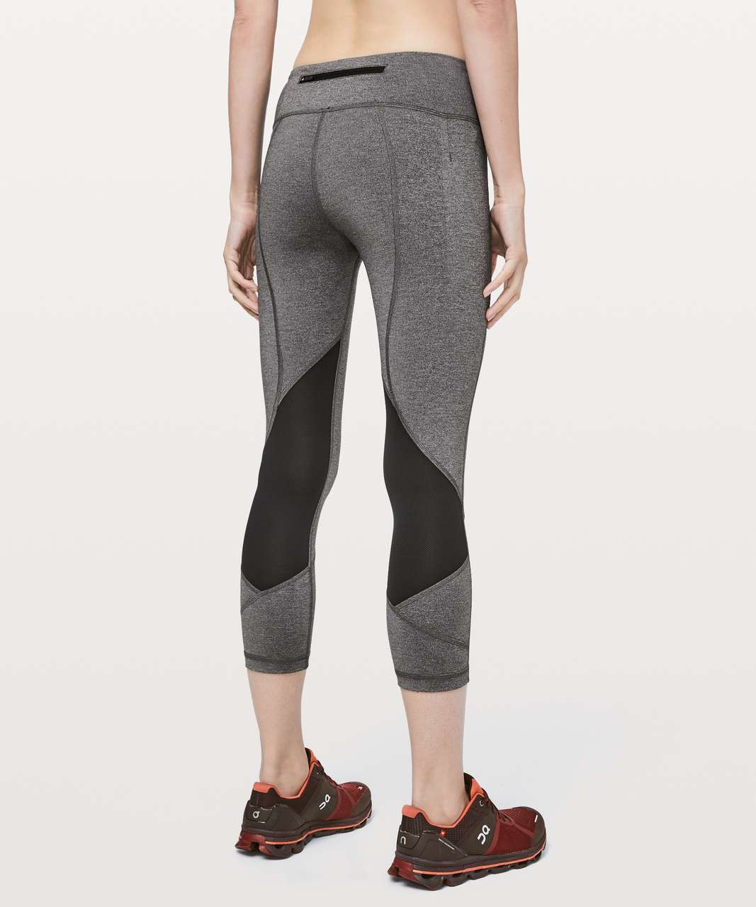 "Lululemon Pace Rival Crop *22"" - Heathered Black / Black"