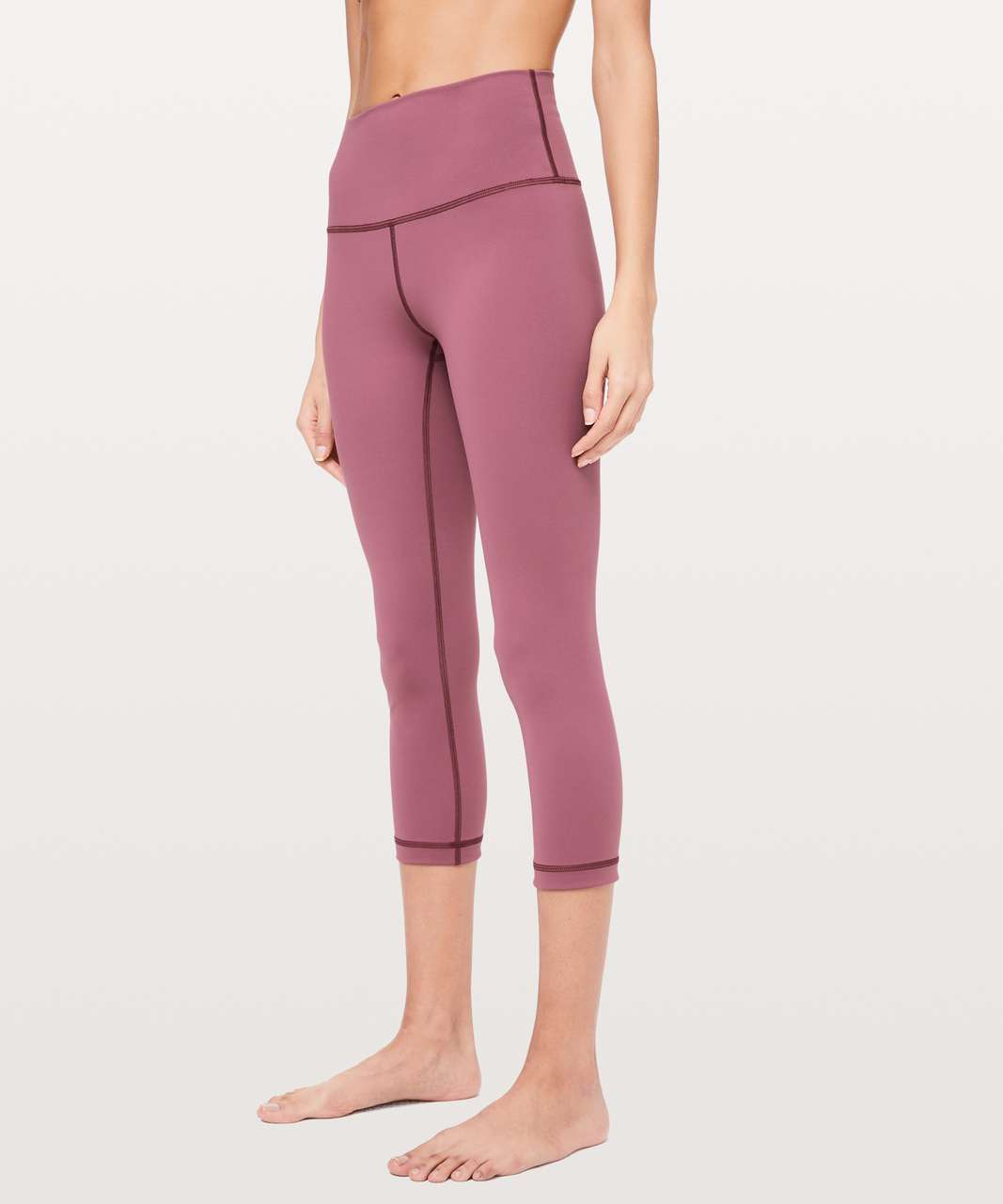 "Lululemon Wunder Under Crop (High-Rise) *Full-On Luxtreme 21"" - Misty Merlot"