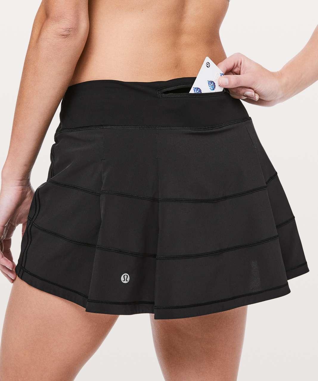 "Lululemon Pace Rival Skirt (Regular) *4-way Stretch 13"" - Black (Second Release)"