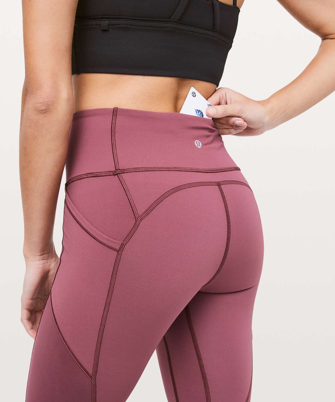 "Lululemon All The Right Places Crop II *23"" - Misty Merlot"