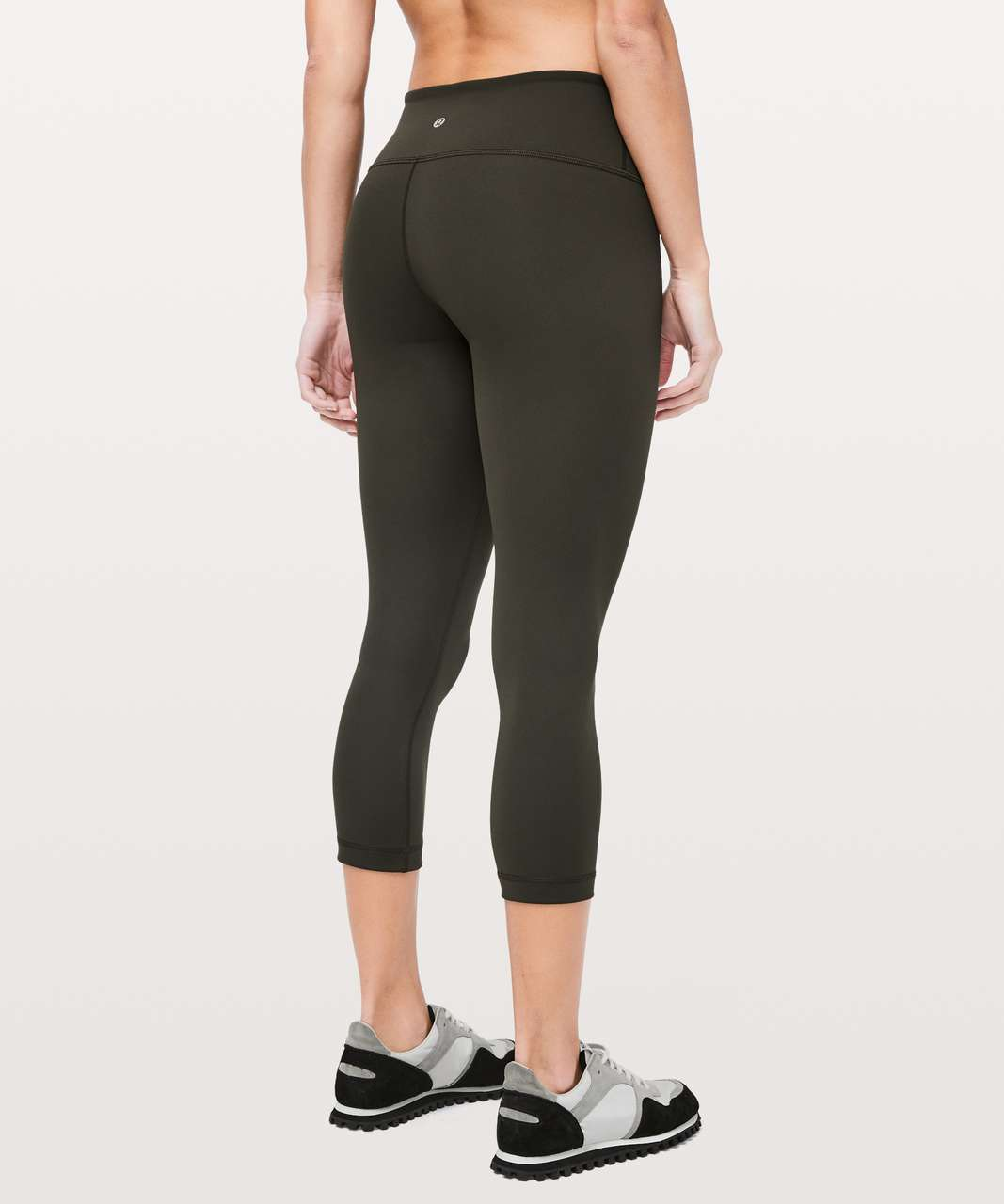"Lululemon Wunder Under Crop III Full-On Luxtreme 21"" - Dark Olive"