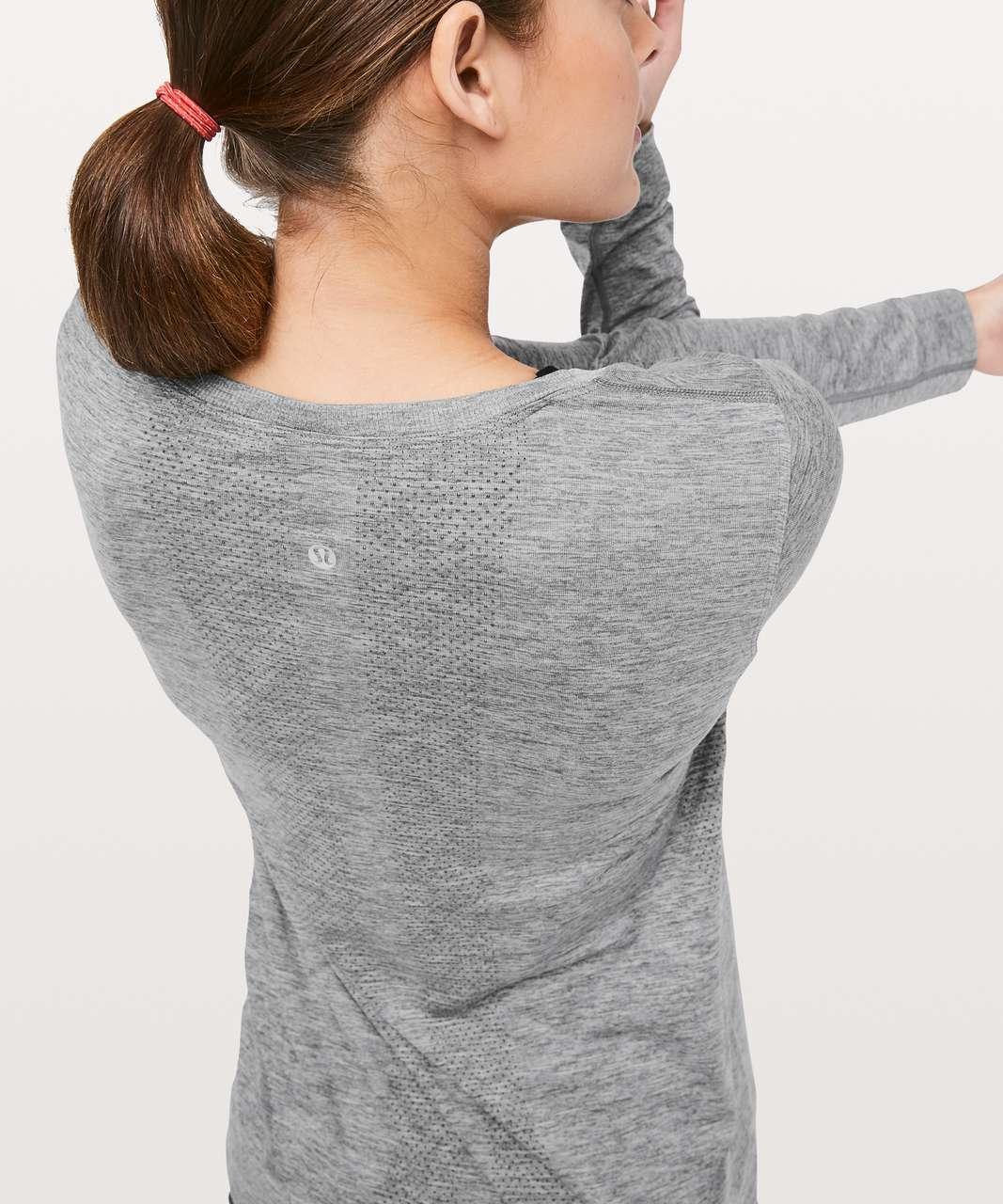 Lululemon Swiftly Tech Long Sleeve (Breeze) *Relaxed Fit - Slate / White