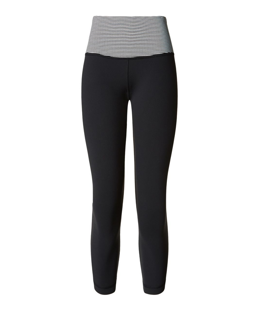 Lululemon Wunder Under Crop III - Black / Tonka Stripe Black White / Apex Stripe Black White