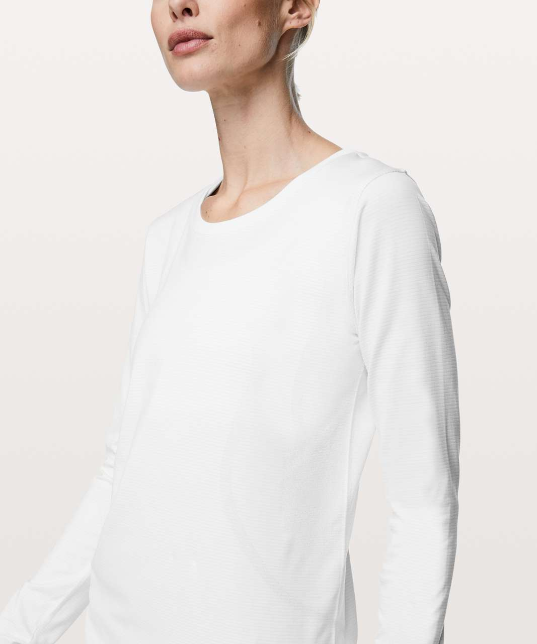 Lululemon Swiftly Tech Long Sleeve (Breeze) *Relaxed Fit - White / White