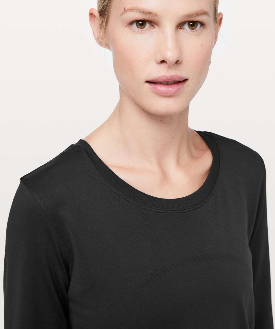 Lululemon Swiftly Tech Long Sleeve (Breeze) *Relaxed Fit - Black / Black (Second Release)