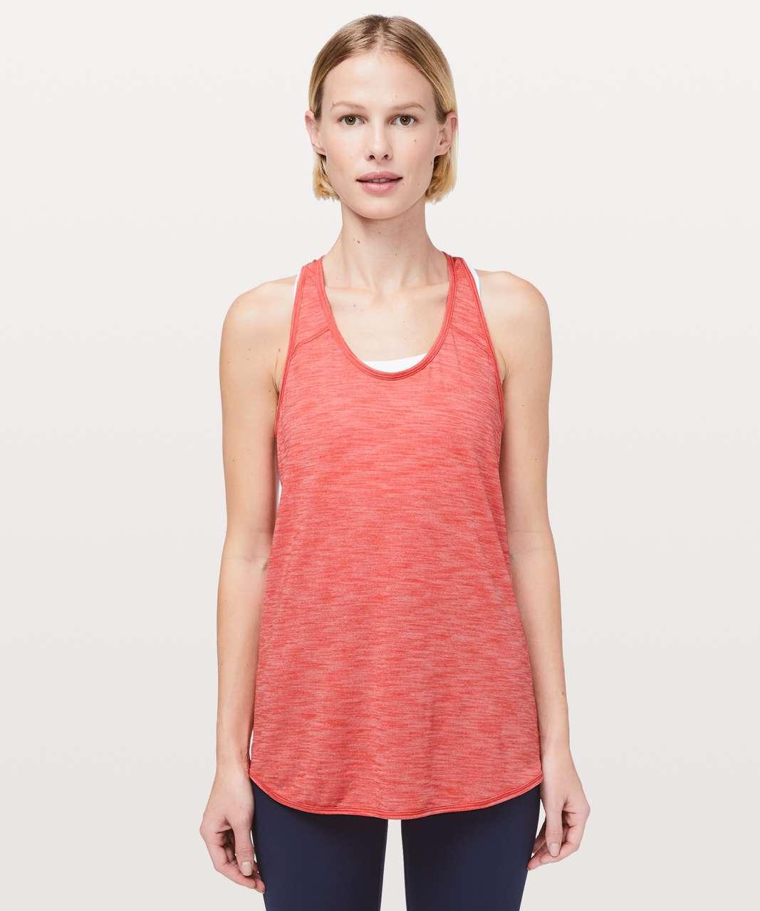 Lululemon Essential Tank - Heathered Poppy Coral