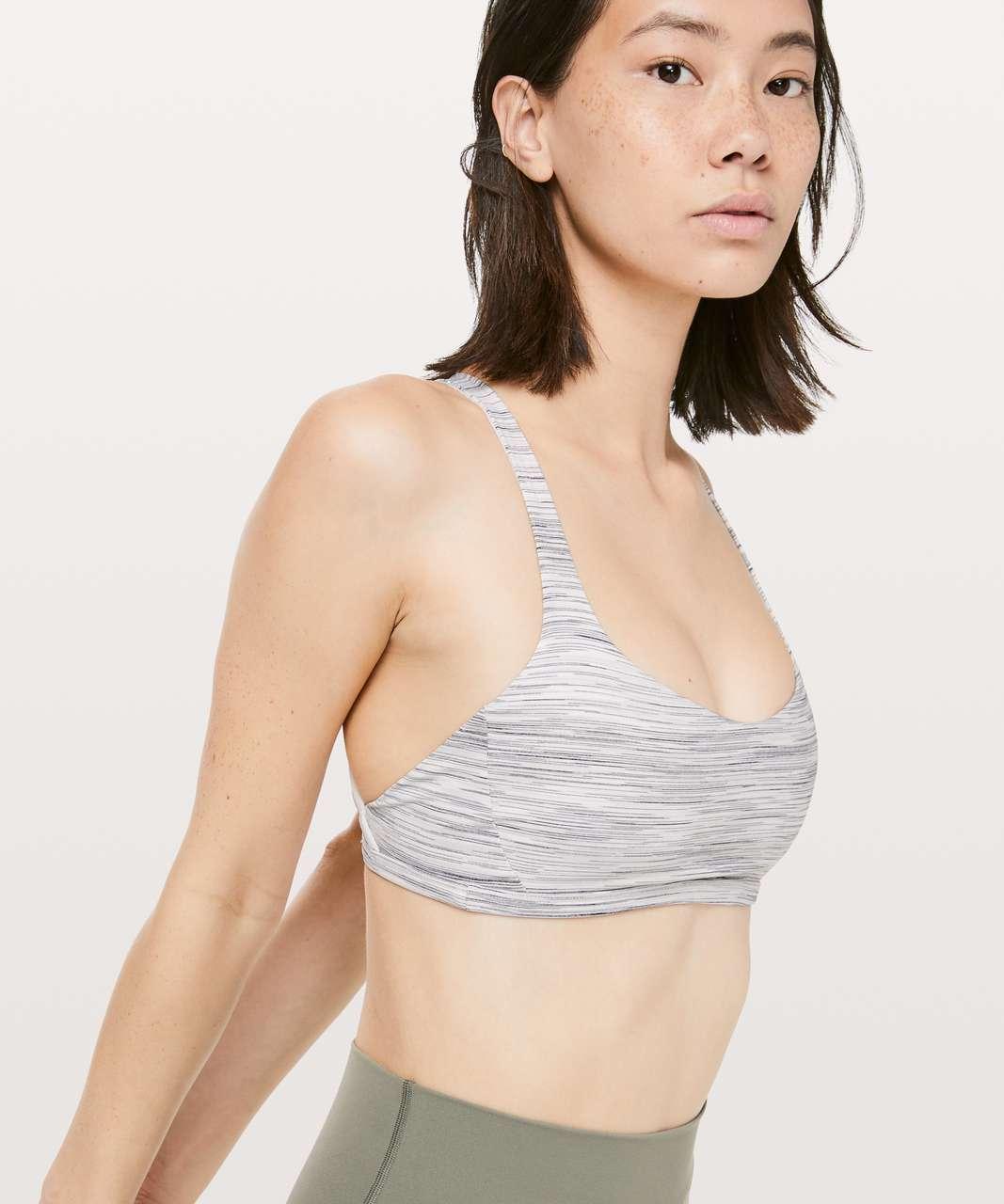 Lululemon Free To Be Zen Bra - Space Dye Camo White Silver Spoon / Ocean Mist