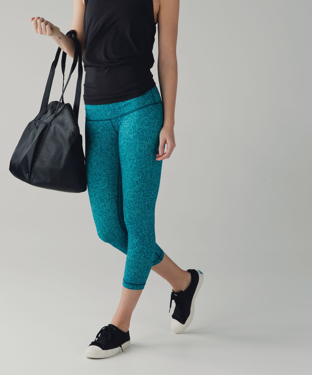 Lululemon Wunder Under Crop III - Foli Manifesto Bali Breeze Tofino Teal