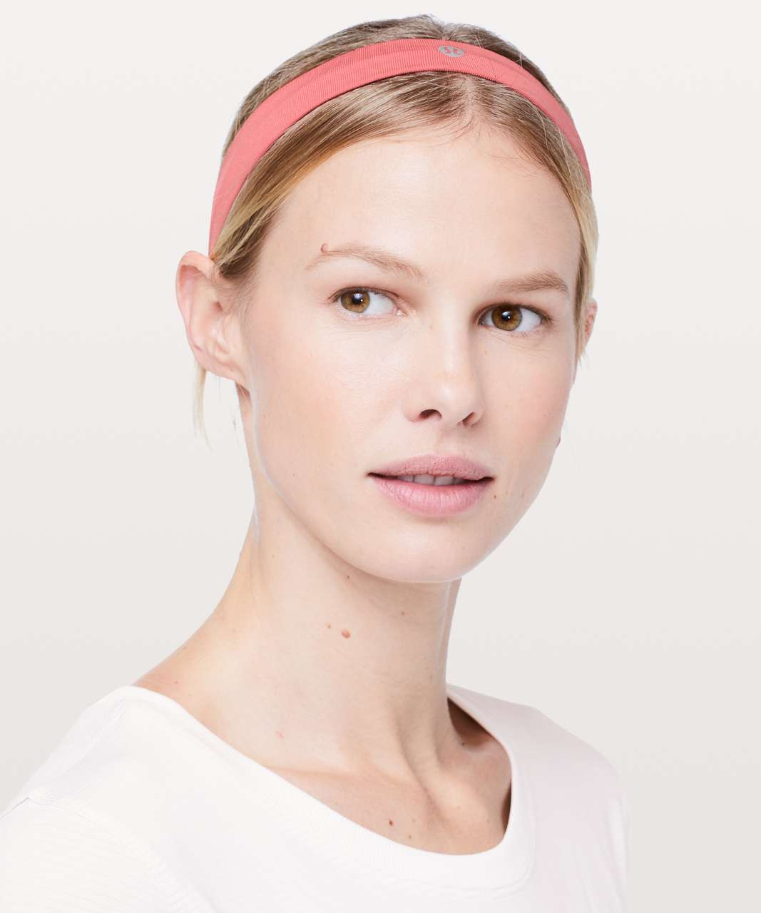 Lululemon Cardio Cross Trainer Headband - Blush Coral / Blush Coral