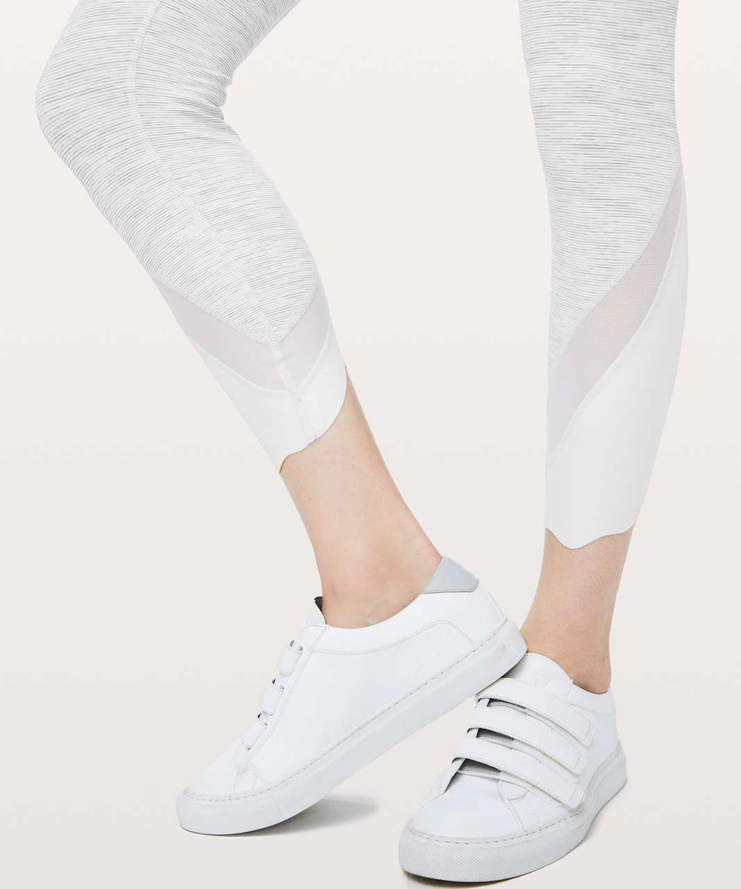 """Lululemon Wunder Under Crop II *Roll Down Scallop Luxtreme 24"""" - Wee Are From Space Nimbus Battleship / Nimbus"""