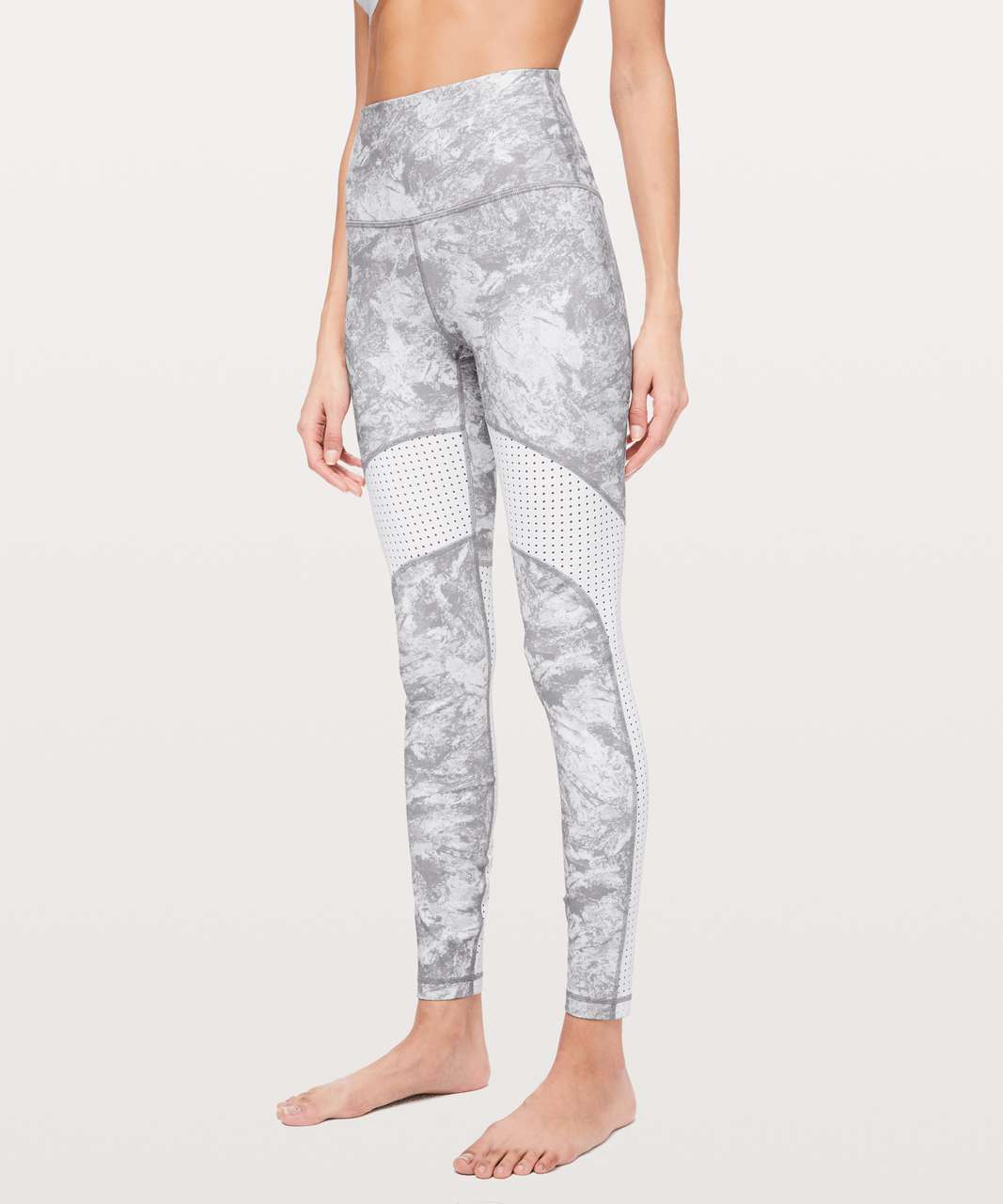 Lululemon Beach Break Paddle Tight - Washed Marble Alpine White Silverscreen / White
