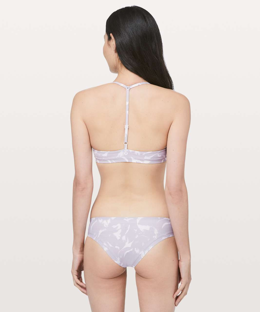 Lululemon Deep Sea Swim Top - Mini Flower Pop White Silver Lilac
