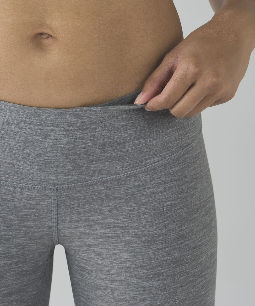 Lululemon Wunder Under Crop III - Heathered Slate