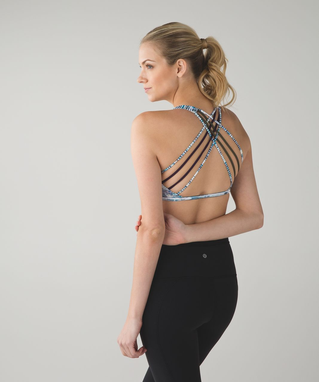 Lululemon Free To Be Bra (Wild) - Blurry Belle Multi / Deep Zinfandel