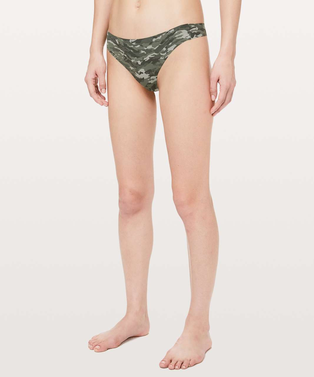 Lululemon Namastay Put Thong II - Evergreen Camo Green Multi