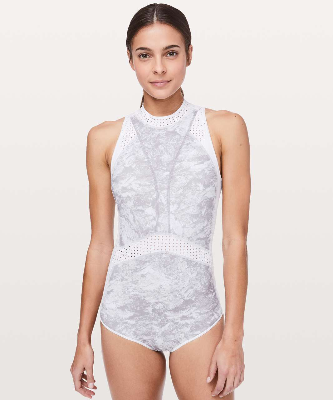Lululemon Beach Break Paddlesuit - Washed Marble Alpine White Silverscreen / White