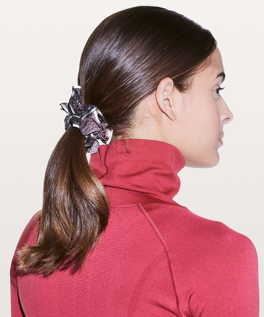 Lululemon Light Locks Scrunchie II - Azurite Poppy Coral Multi