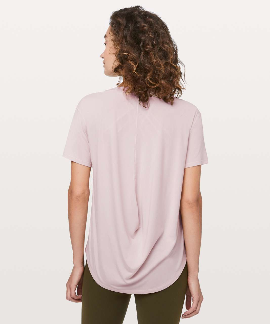 24a12c0ccb11b Lululemon Fall In Place Short Sleeve - Heathered Pink Bliss   White - lulu  fanatics
