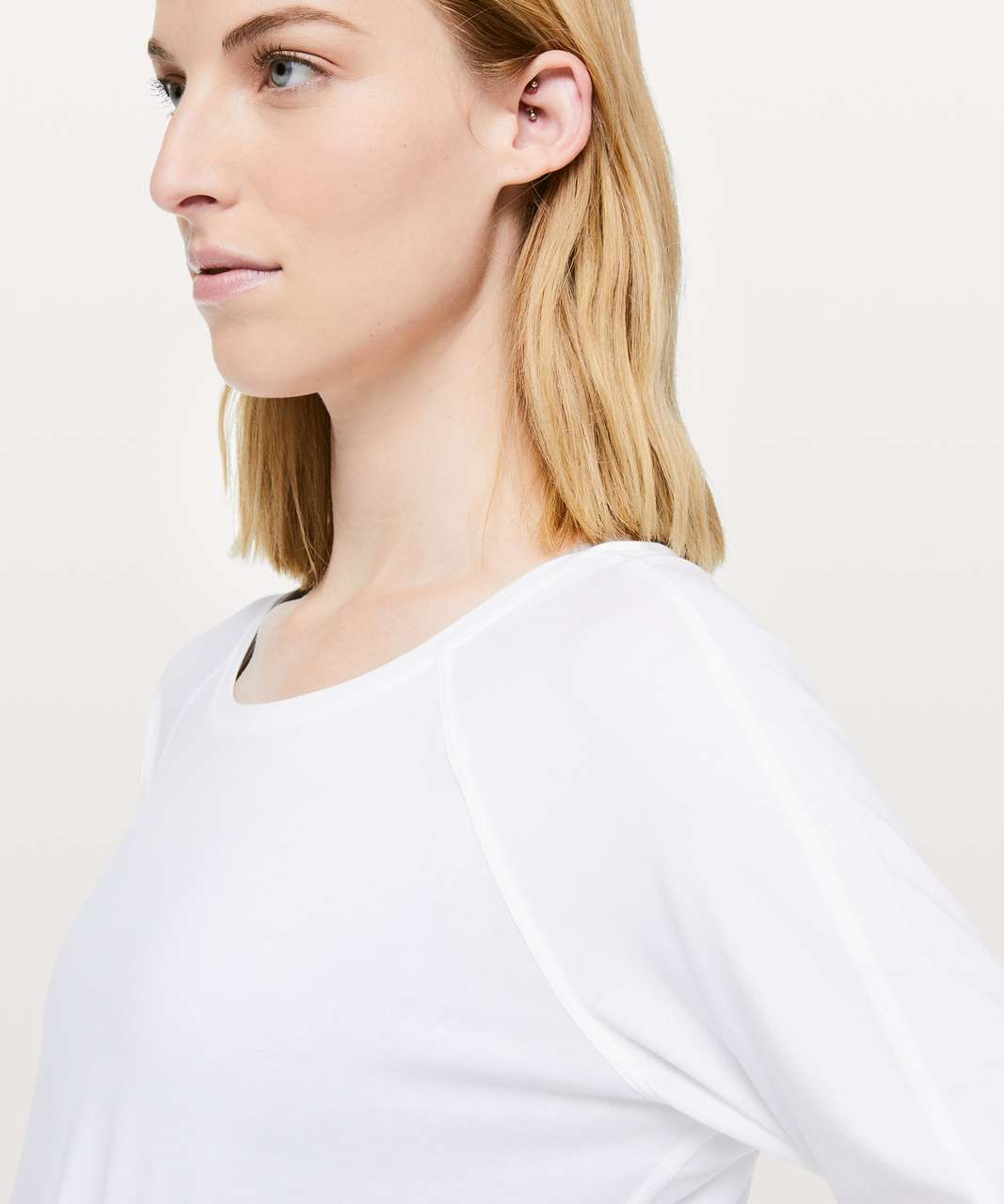 Lululemon Emerald Long Sleeve - White