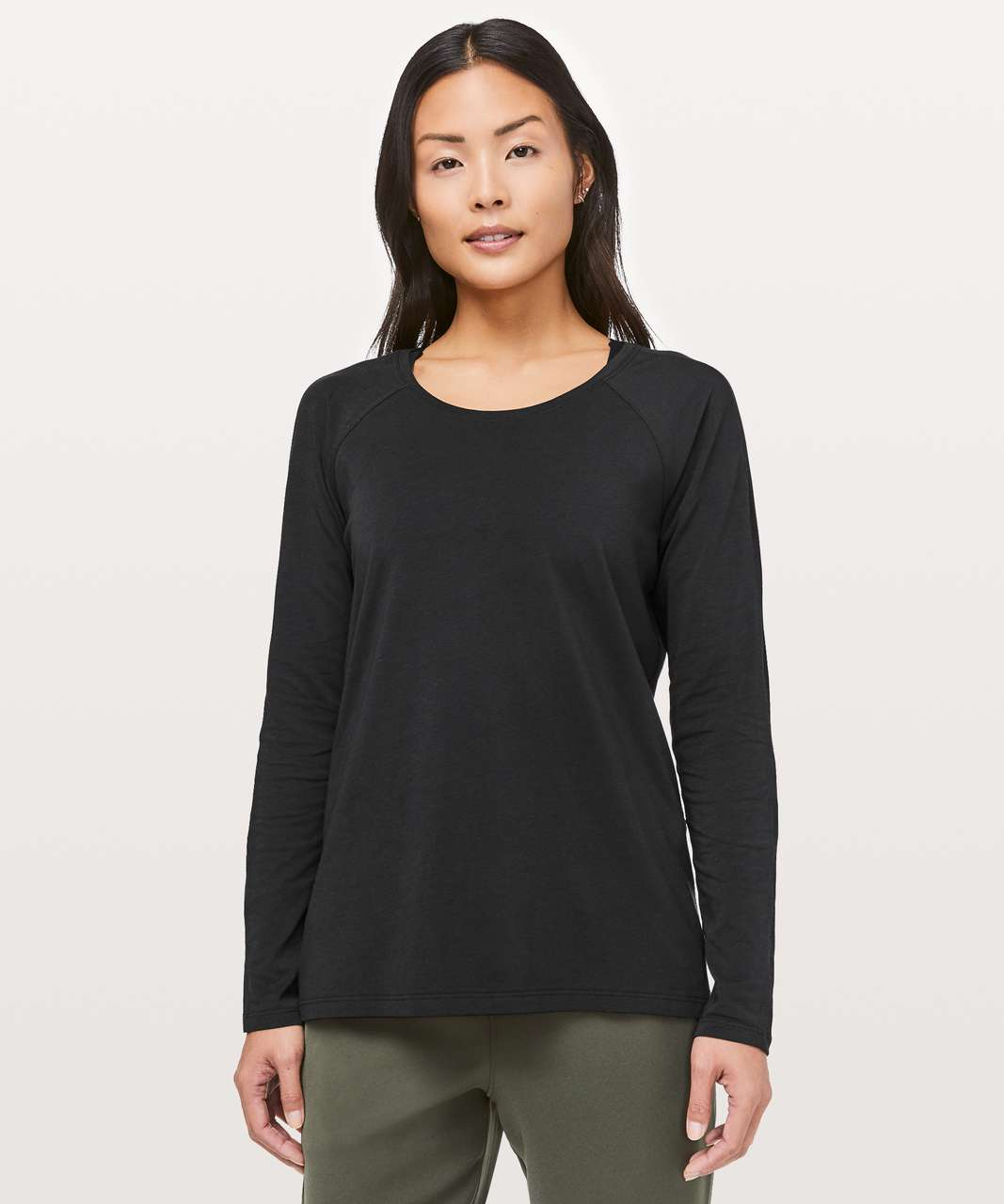 Lululemon Emerald Long Sleeve - Black (Third Release)