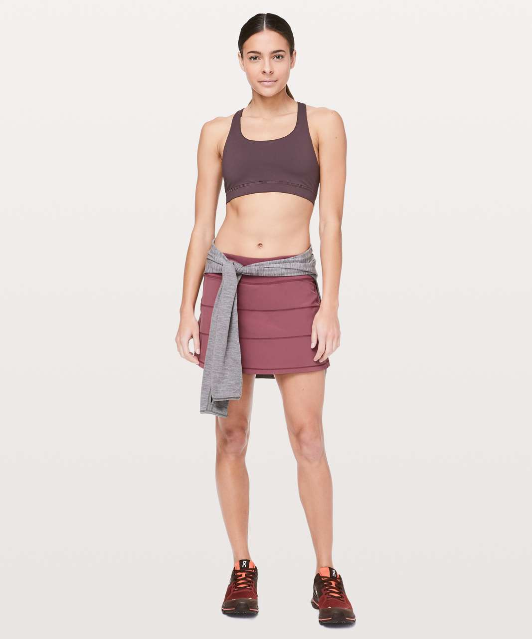 "Lululemon Pace Rival Skirt (Tall) *4-way Stretch 15"" - Misty Merlot"