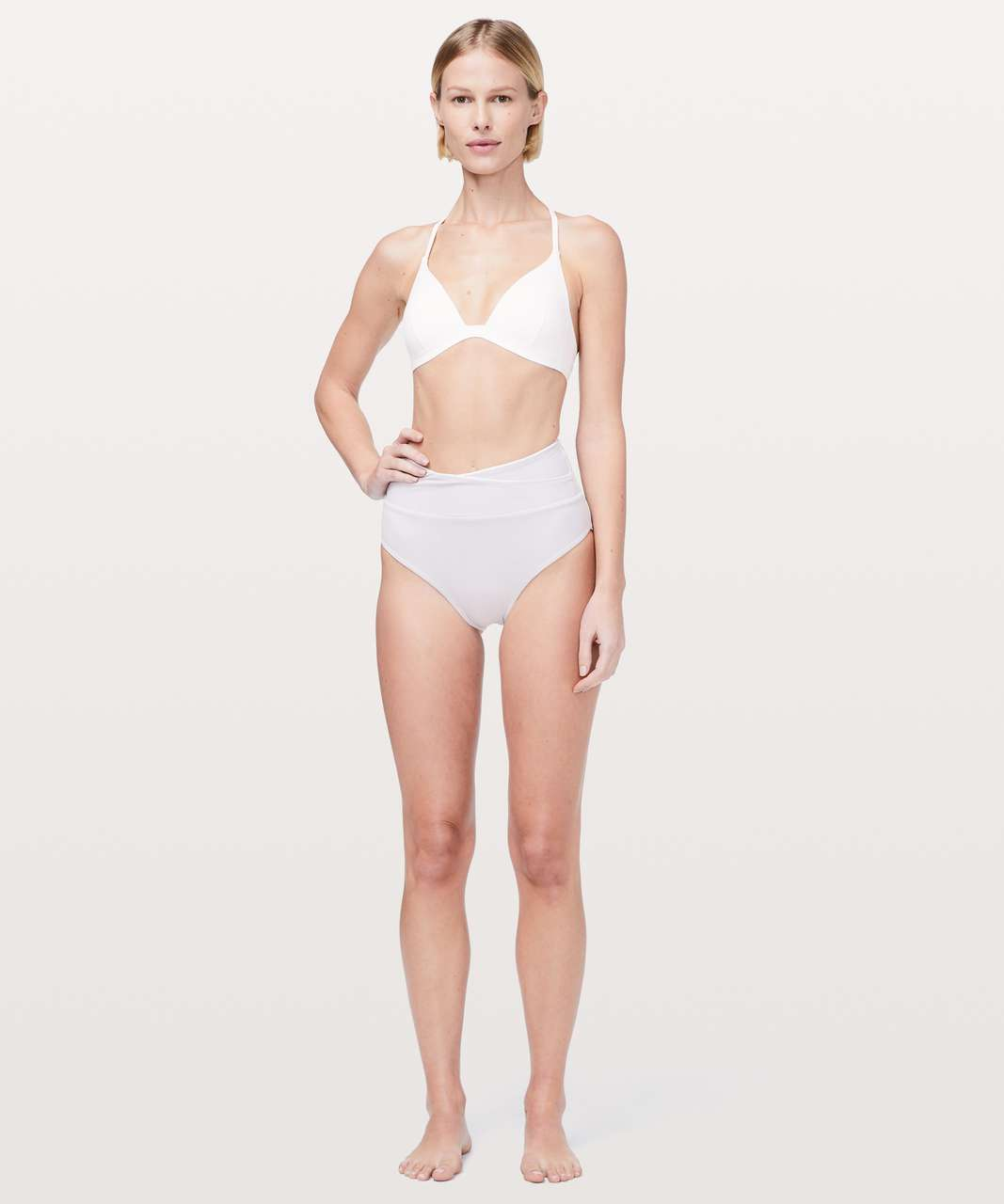 Lululemon Tied To Tide Swim Bottom - White / Silver Lilac
