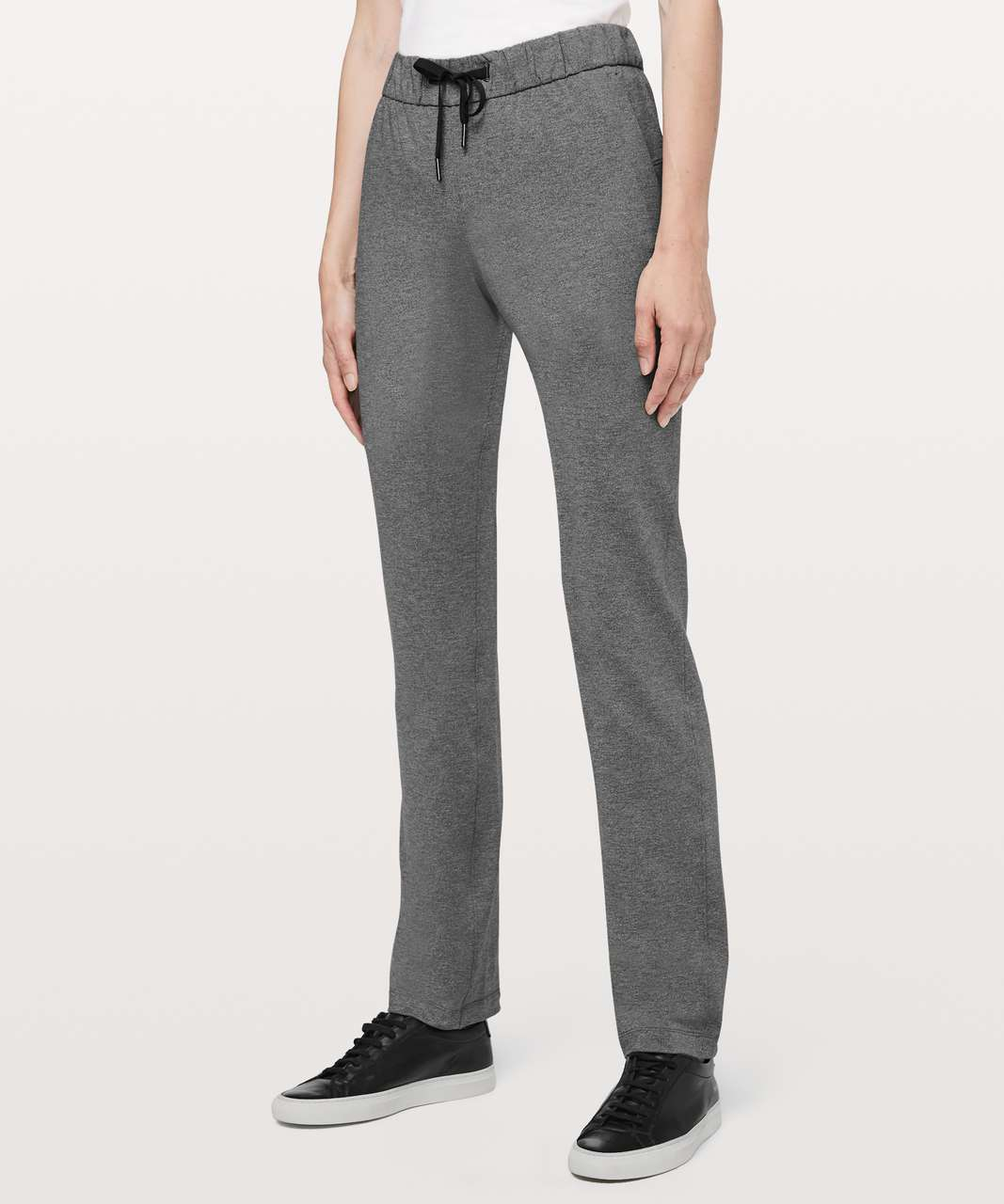 "Lululemon On The Fly Pant Tall 33"" - Heathered Black"