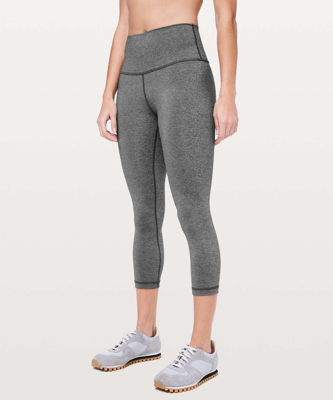 "Lululemon Wunder Under Crop (High-Rise) *Luxtreme 21"" - Heathered Black"