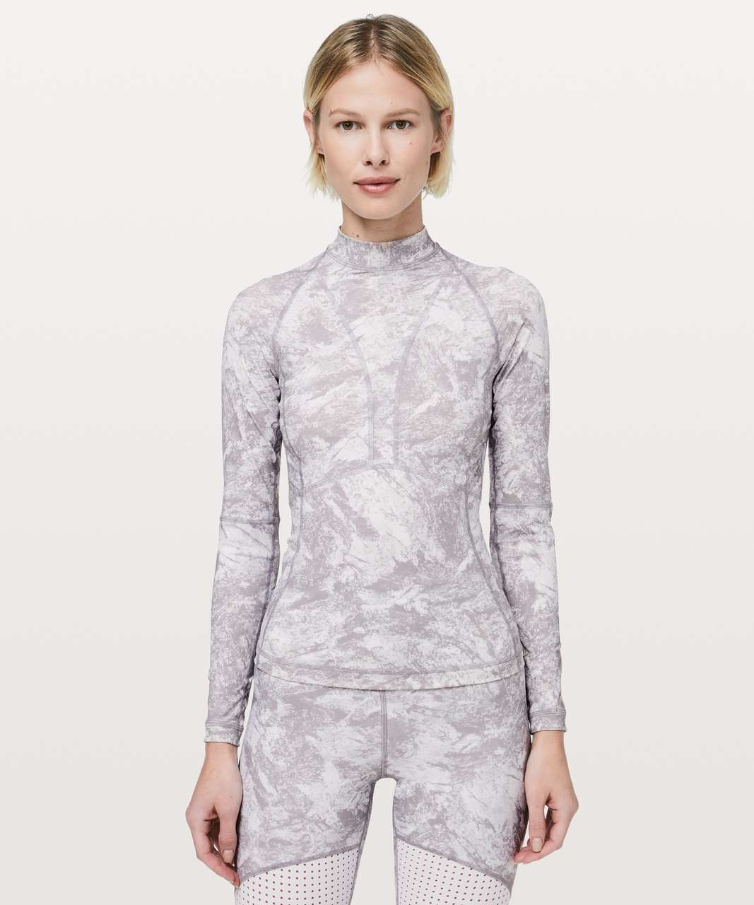 Lululemon Beach Break Rashguard - Washed Marble Alpine White Silverscreen