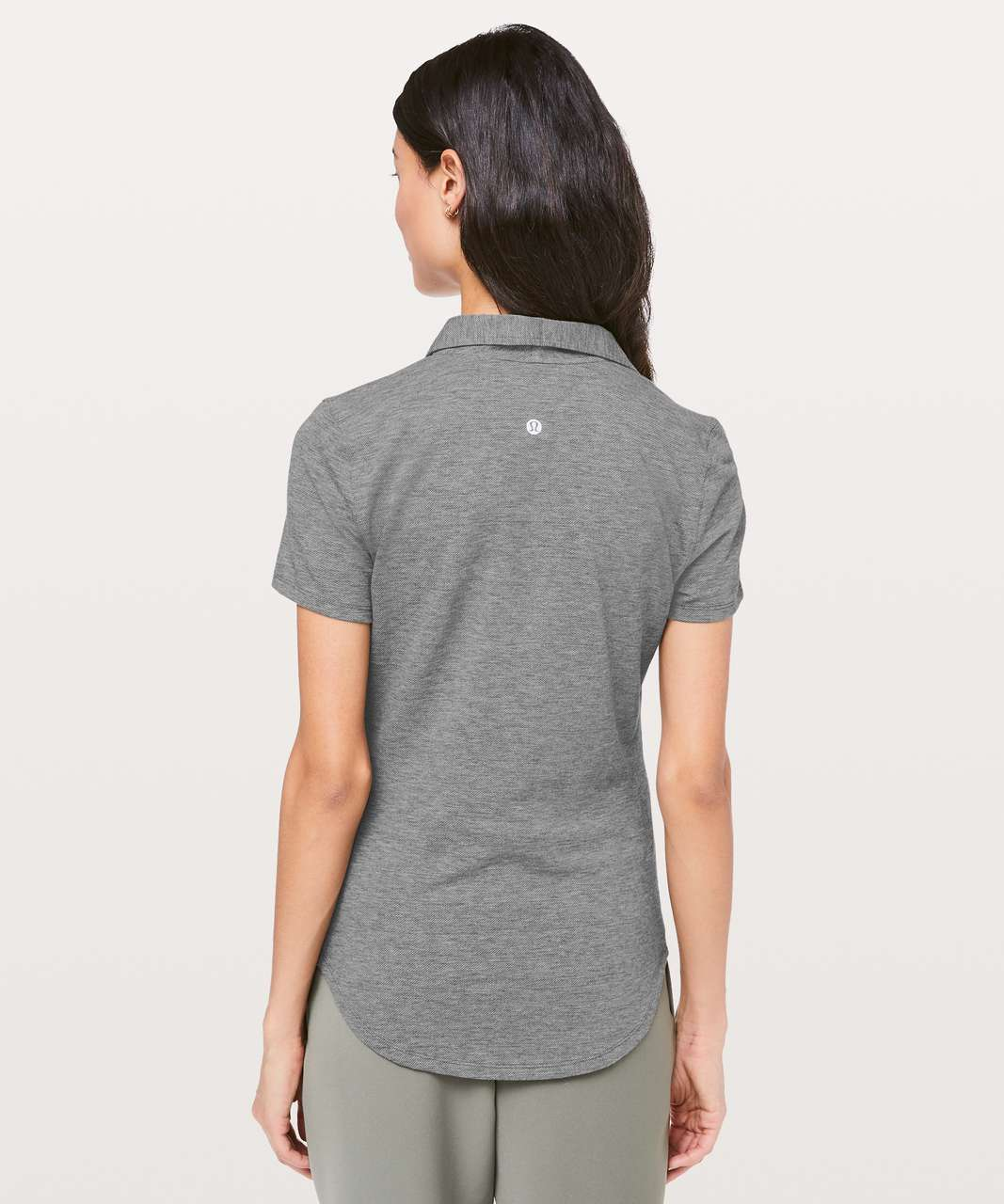 Lululemon Players Pro Form Polo - Heathered Black