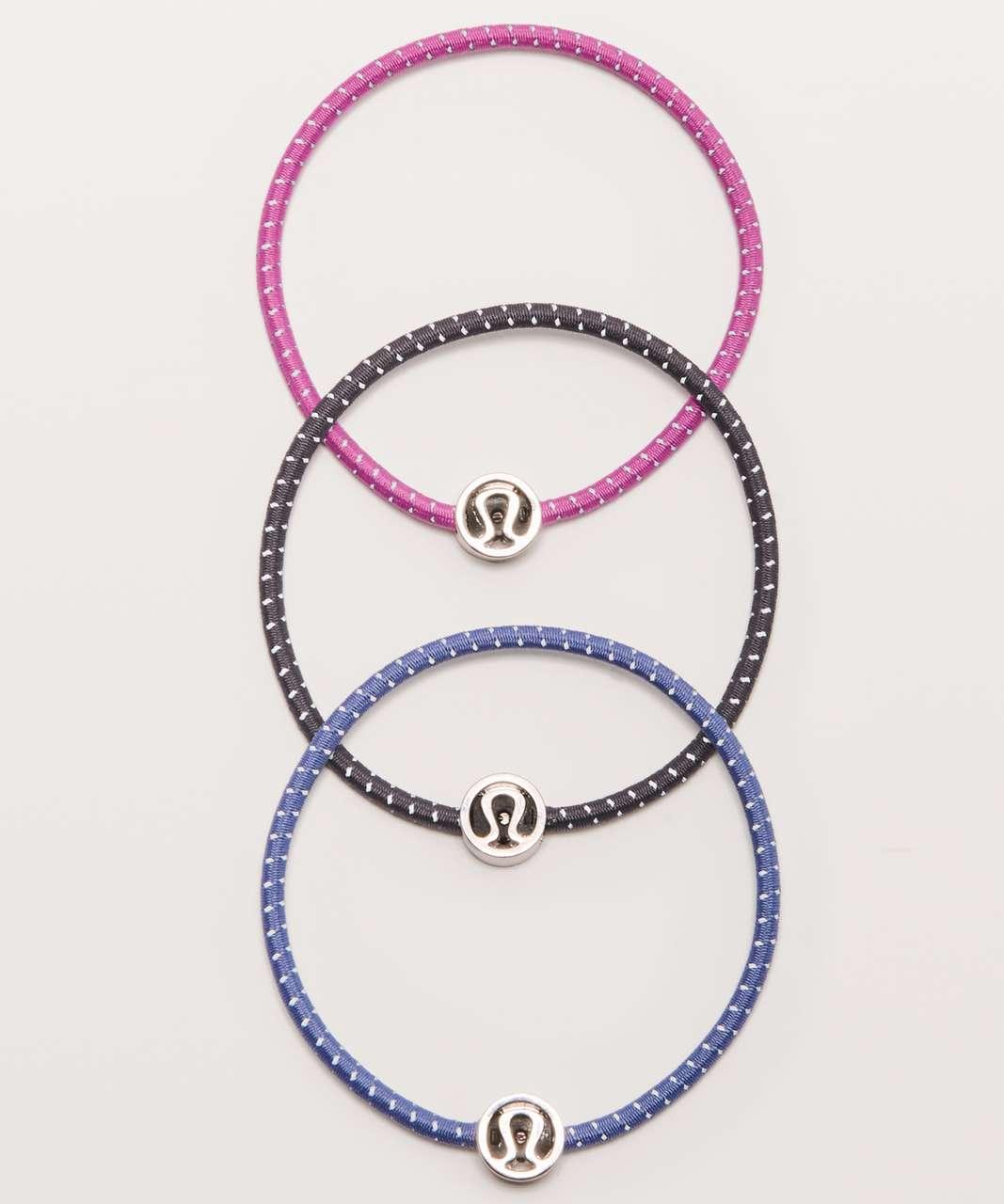 Lululemon Glow On Hair Ties - Iron Purple / Hyacinth / Graphite Purple