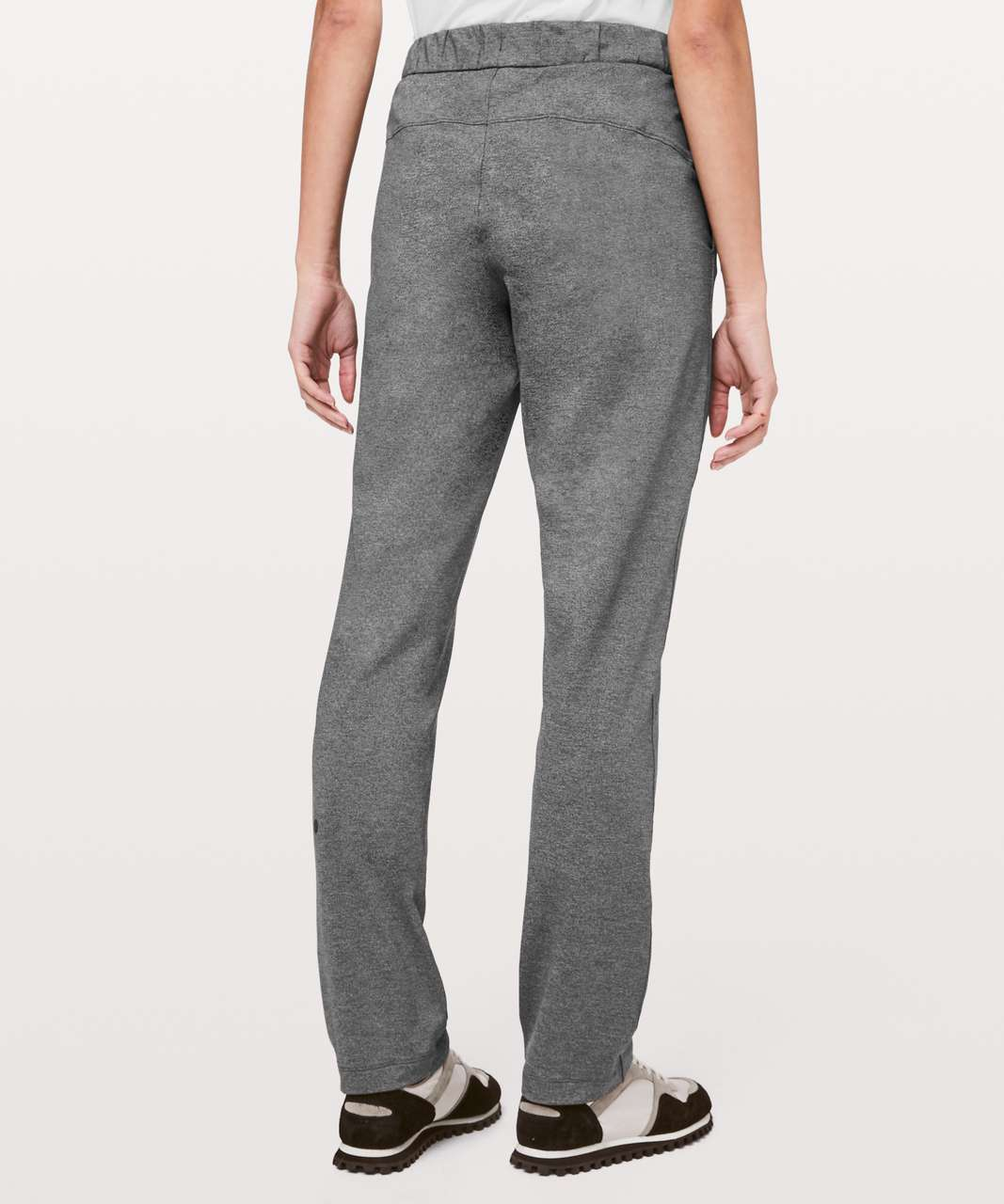 "Lululemon On The Fly Pant Full Length 31"" - Heathered Black"