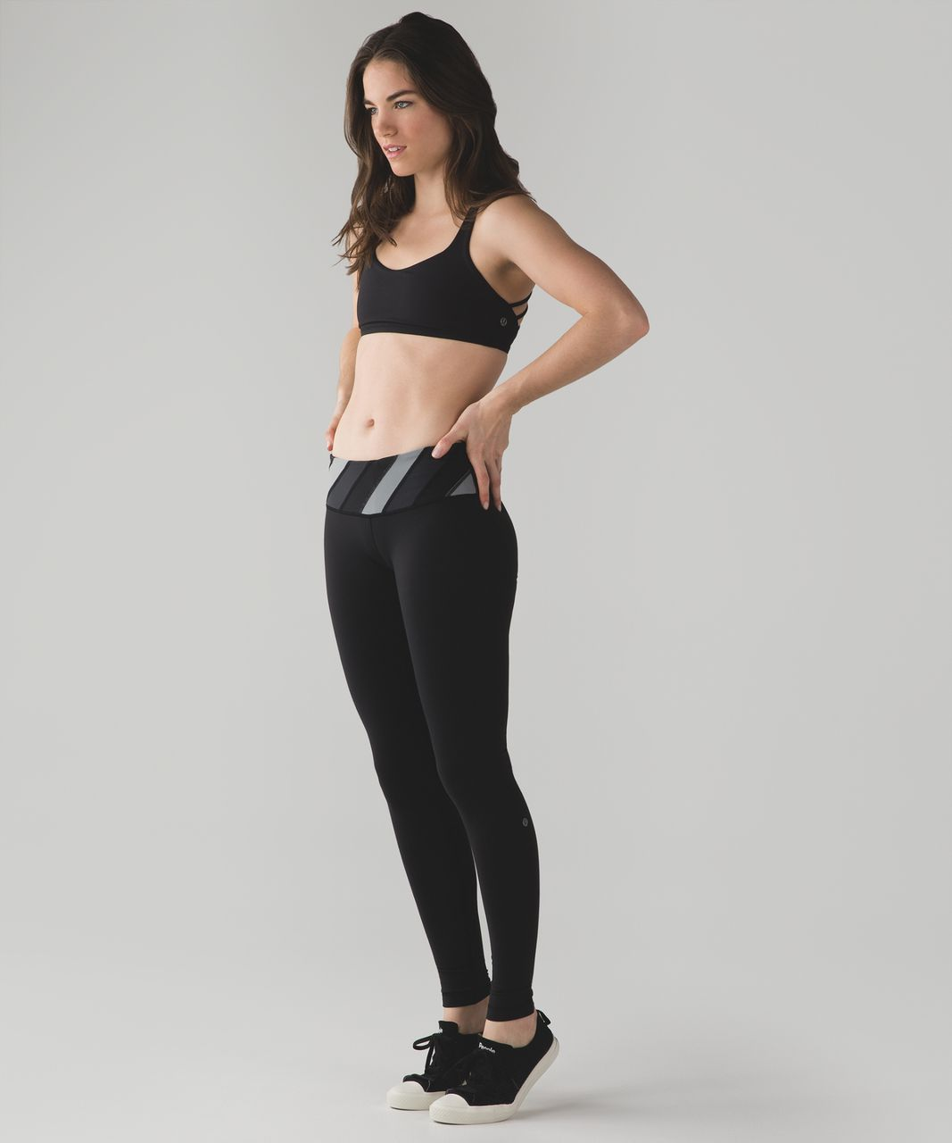 Lululemon Wunder Under Pant III - Black / Deep Coal / Battleship