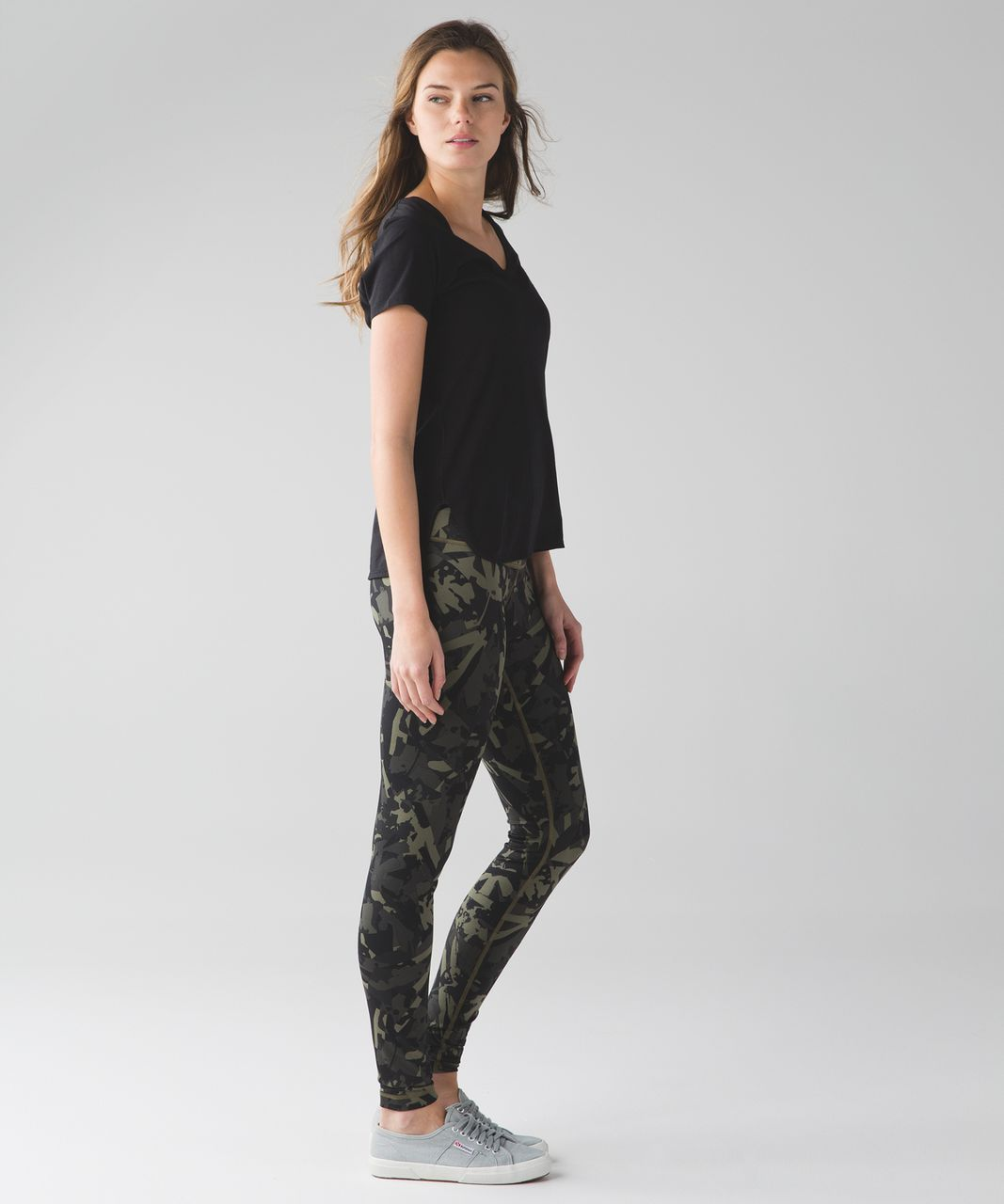 Lululemon Wunder Under Pant (Hi-Rise) - Pop Cut Fatigue Green Black