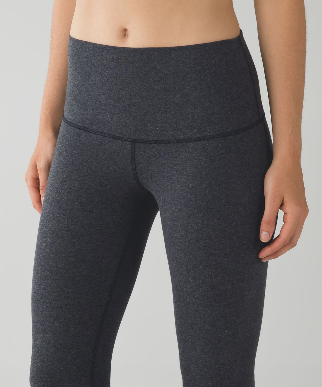 6eacc59b406a58 Lululemon Wunder Under Pant (Roll Down) - Heathered Black - lulu fanatics
