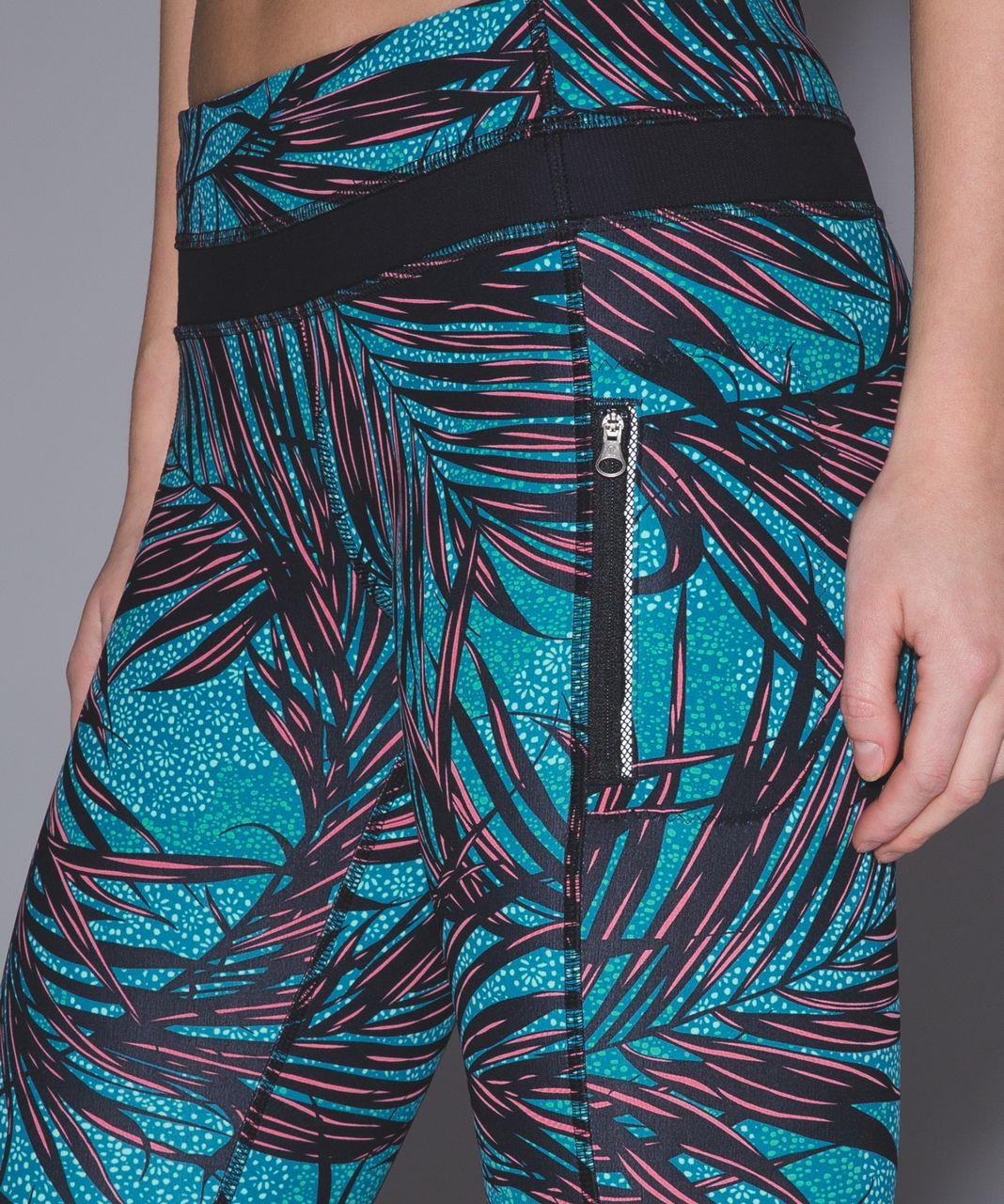 Lululemon Inspire Tight II - Palm Lace Tofino Teal Multi