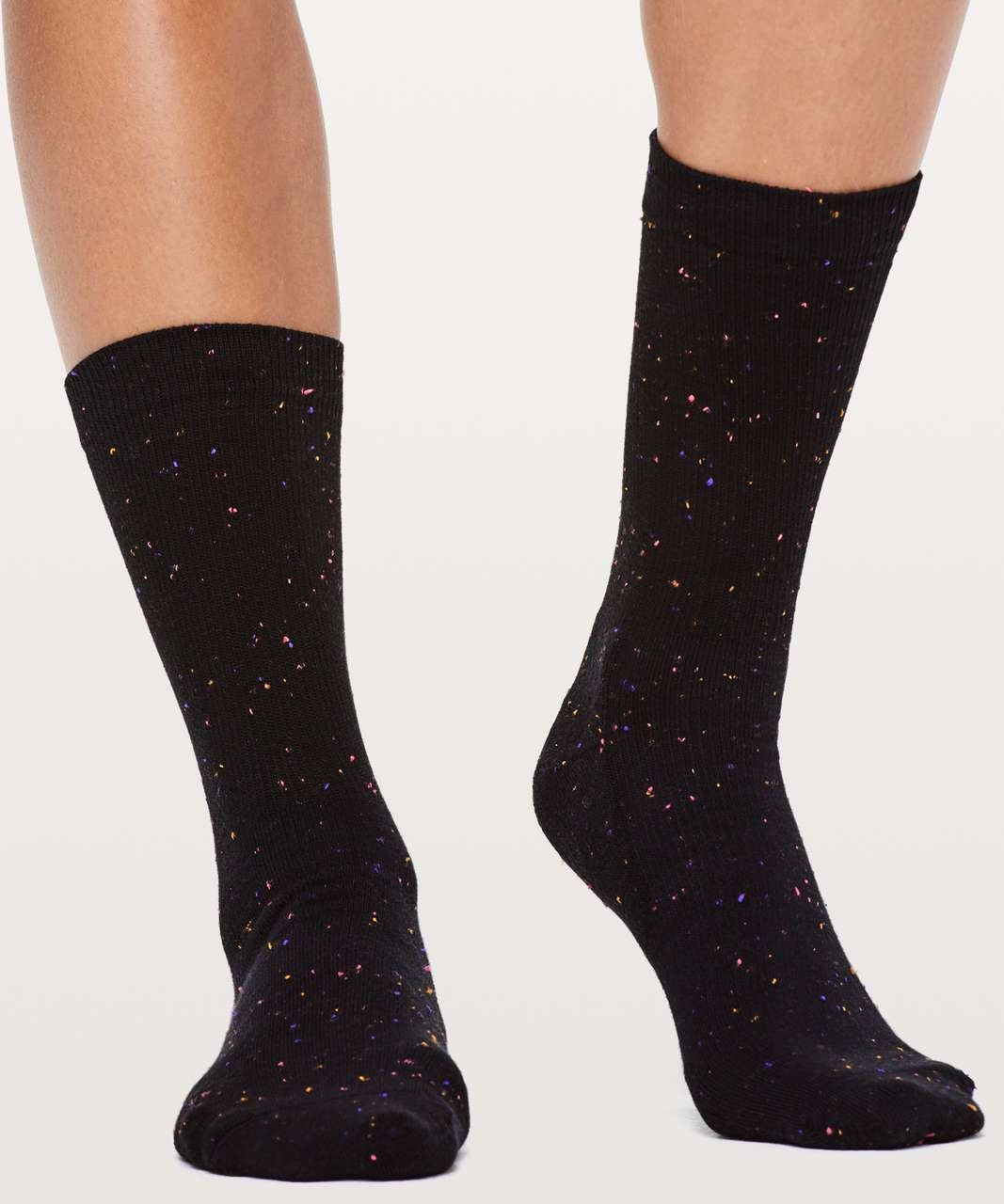 Lululemon Cozy Kick Crew Sock - Black