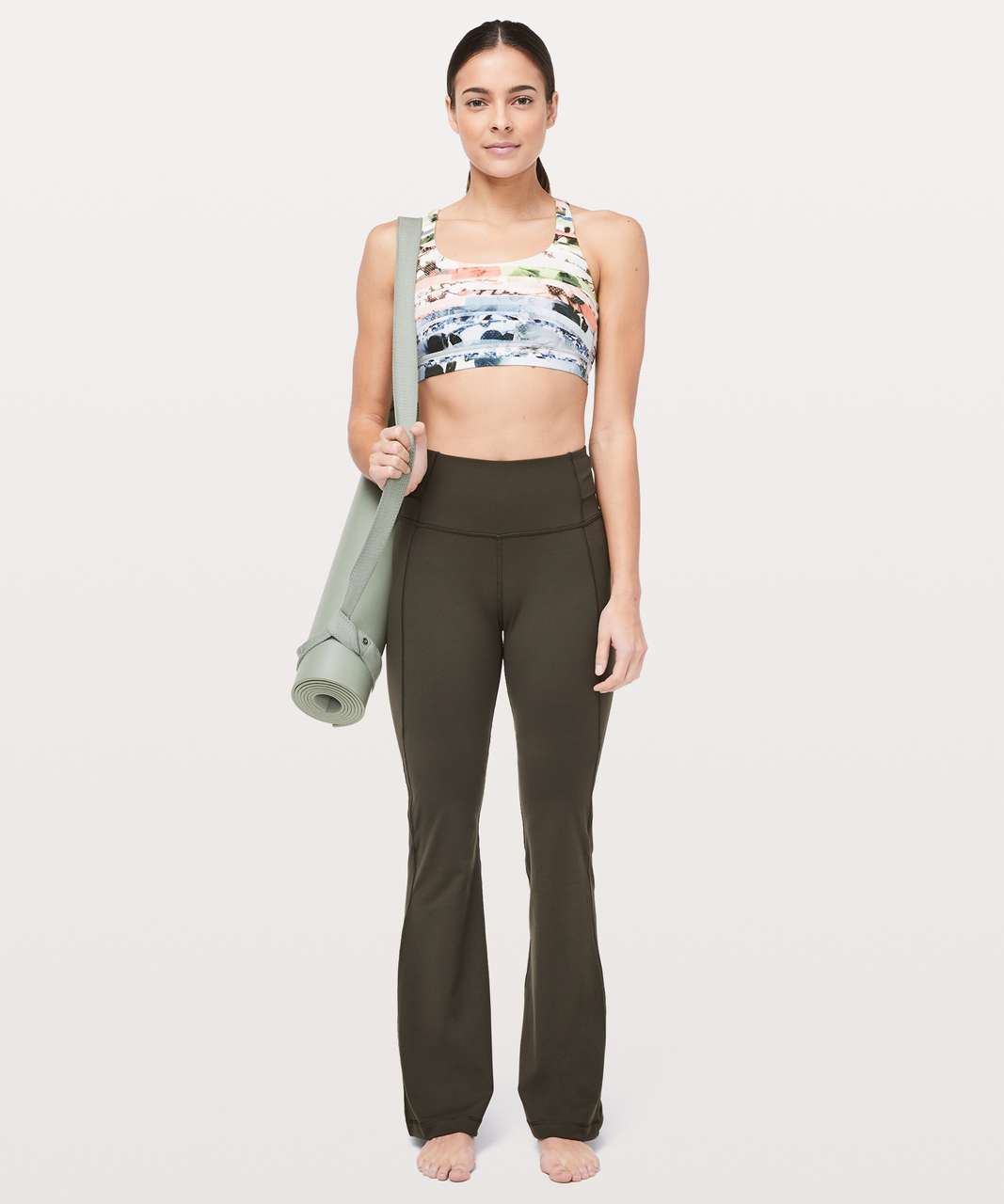 "Lululemon Groove Pant Flare *Full-On Luxtreme 32"" - Dark Olive"