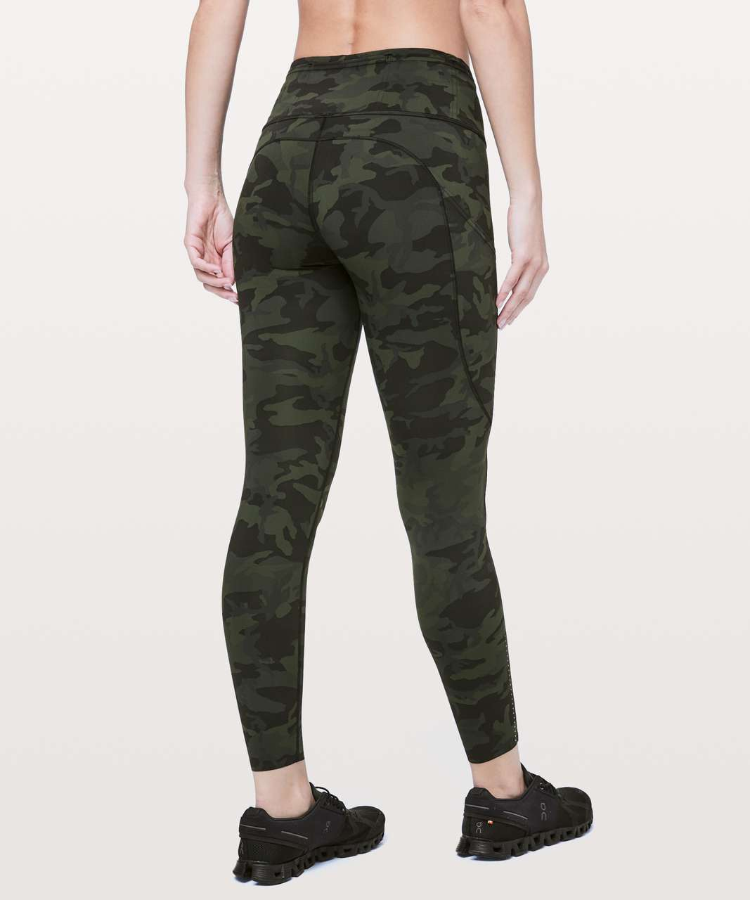 "Lululemon Fast & Free 7/8 Tight II *Nulux 25"" - Incognito Camo Multi Gator Green"