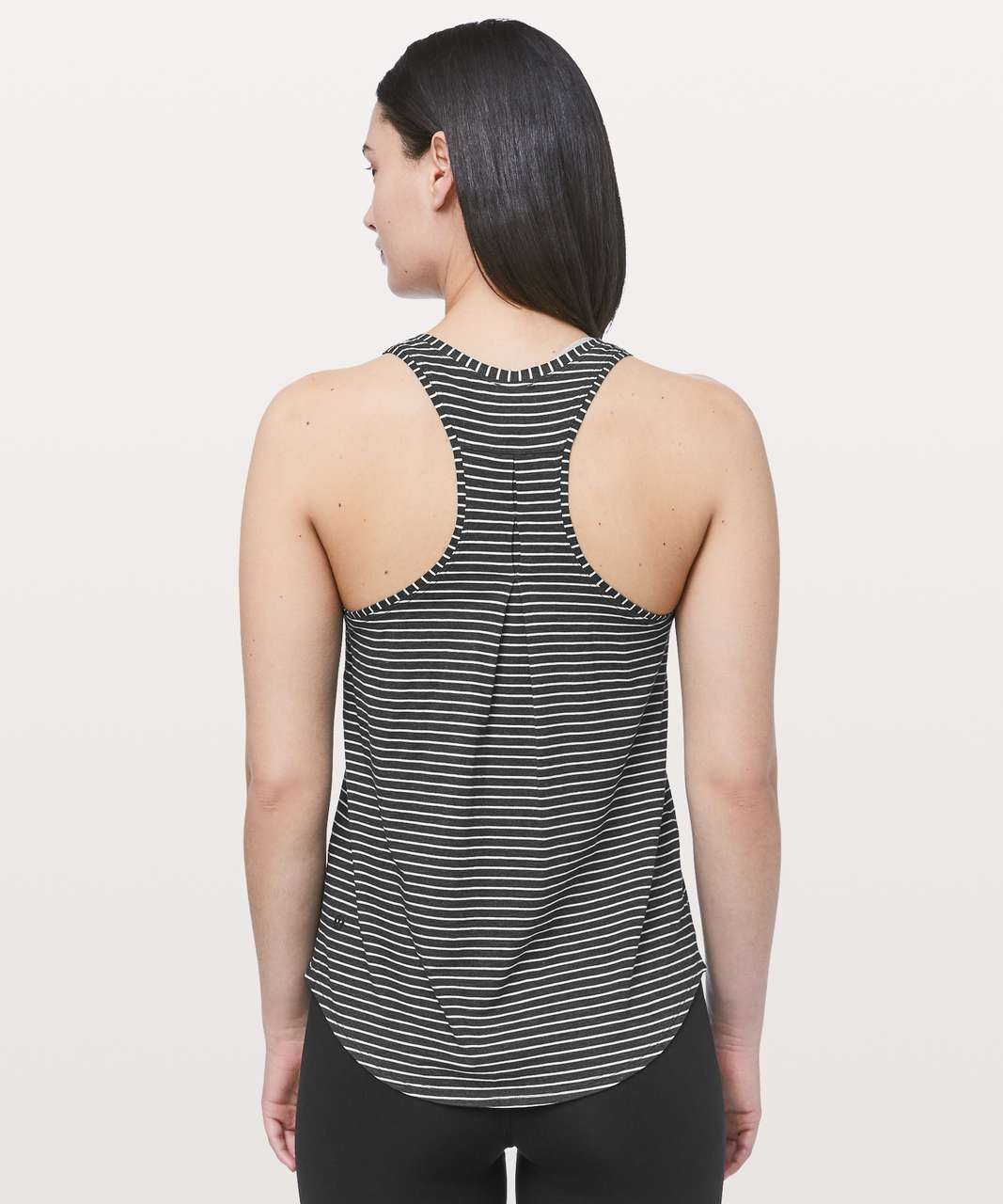 Lululemon Love Tank *Pleated - Modern Stripe Heathered Black White