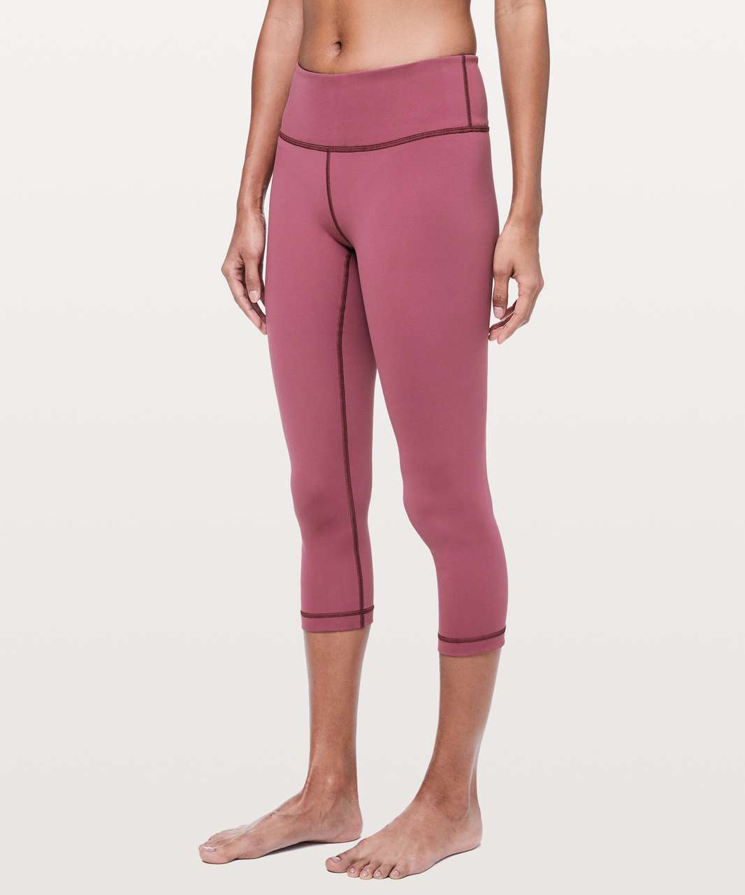 "Lululemon Wunder Under Crop *Mid-Rise Full-On Luxtreme 21"" - Misty Merlot"