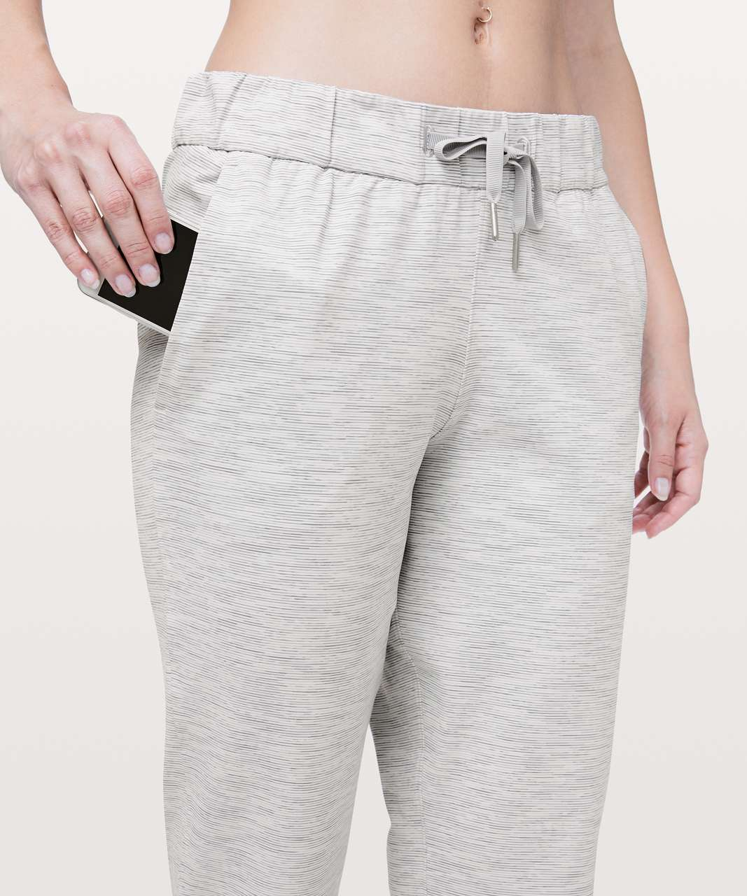 """Lululemon On The Fly Crop *23"""" - Wee Are From Space Nimbus Battleship"""