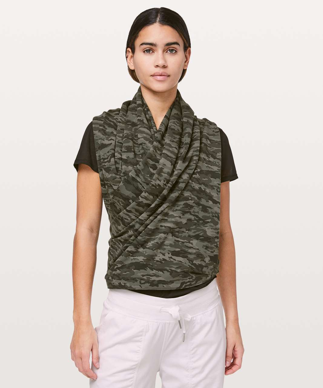 Lululemon Vinyasa Scarf *Cotton - Evergreen Camo Green Multi