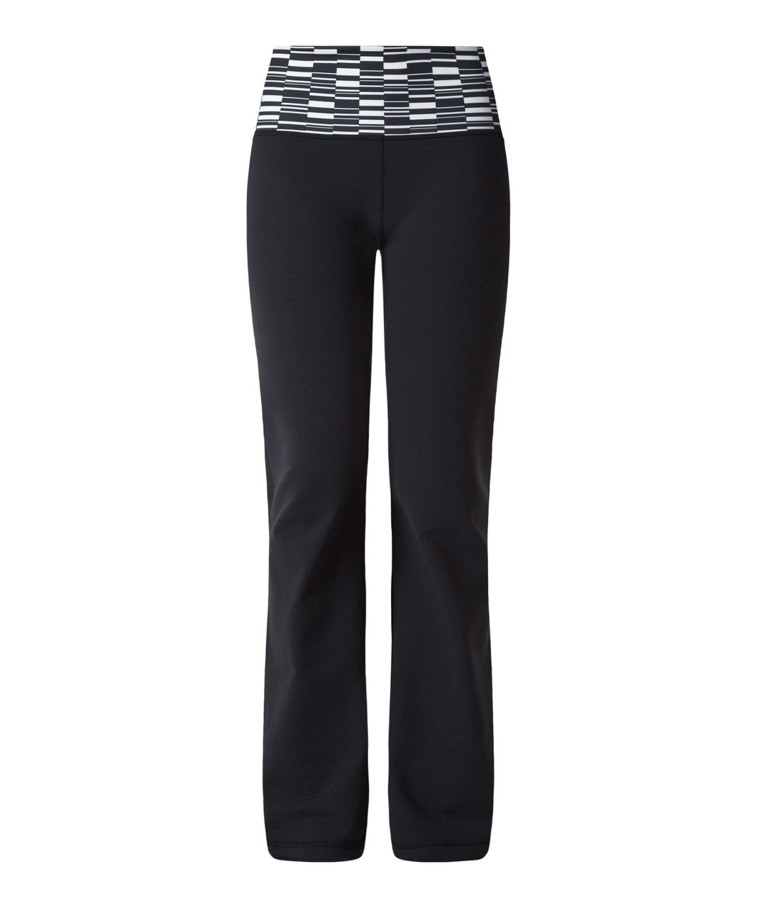 Lululemon Groove Pant III (Regular) - Black / Ying Yang Stripe White Black